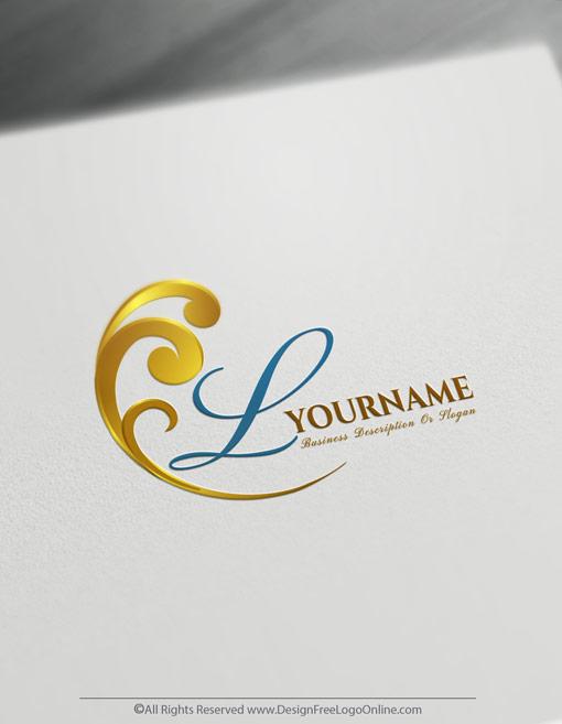 Instantly build a golden wave logo, without registration.