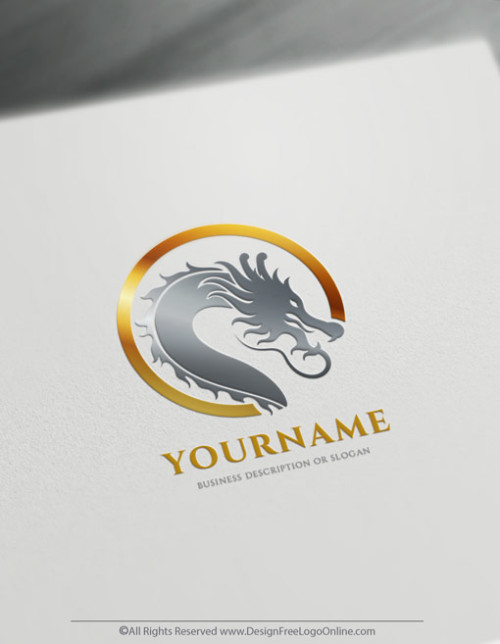 Gold Head Of Dragon Logo - Image of Chinese Dragons