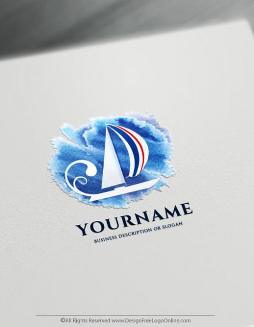 Build a brand like a pro with our online logo maker! Instantly customize your new yacht club logo branding with original free logo design templates