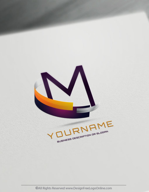 colorful 3D modern logo maker