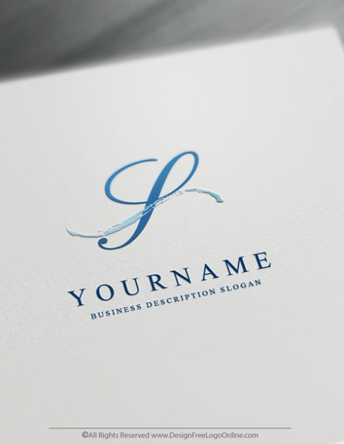 Instantly customize a blue minimalist logo