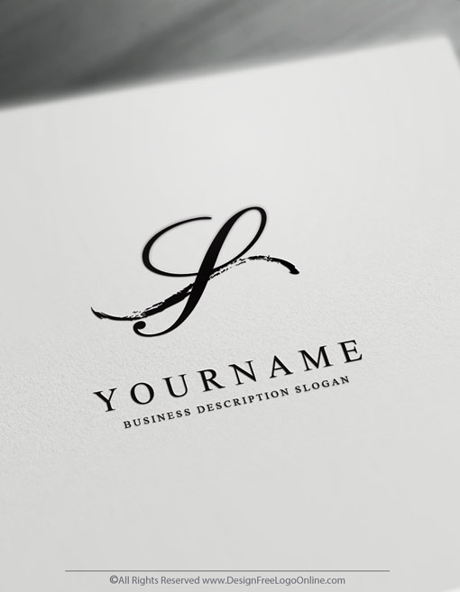 Instantly customize a black minimalist logo