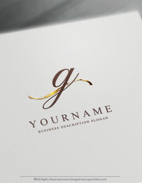 Instantly customize a gold minimalist logo