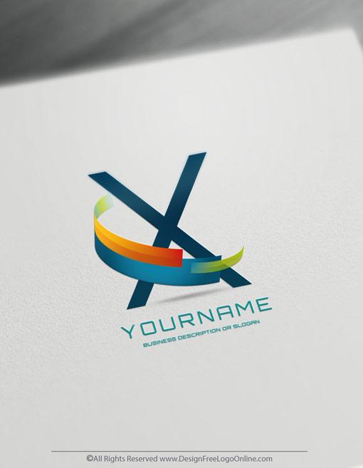 Modern 3D logo branding for free