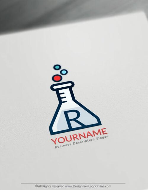 Test Tube Science Logo Maker