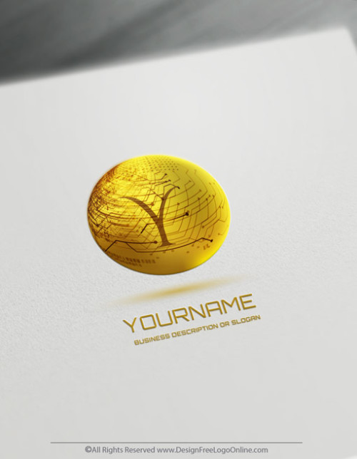 Gold 3D technology logotype