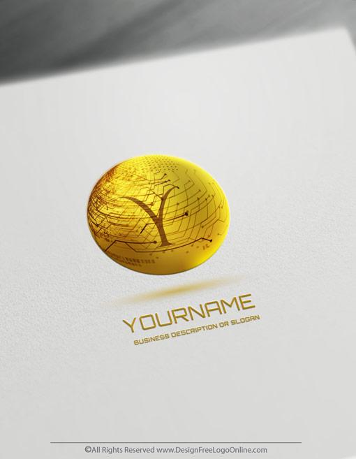 Gold 3D technology logotype
