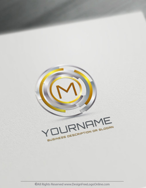 Golden Digital Focus Logo Template