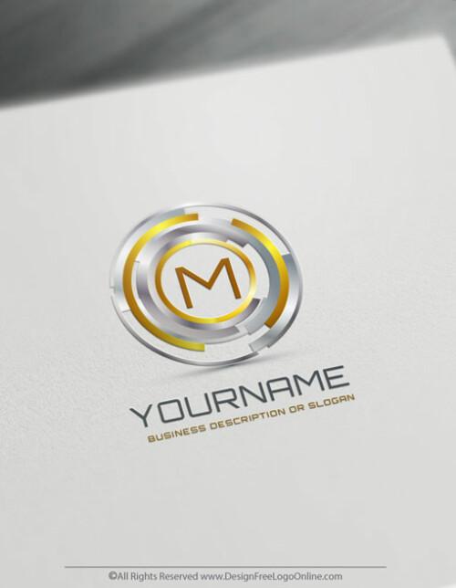 Golden Digital Focus Logo Template