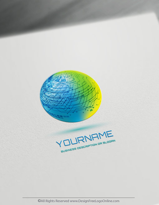 Use the free online logo maker and download your 3D Logo Of Technology