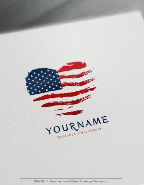 Build A Brand Online With Our Free USA American Flag Logo