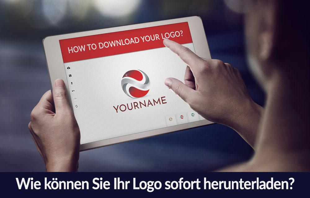Wie können Sie Ihr Logo sofort herunterladen?