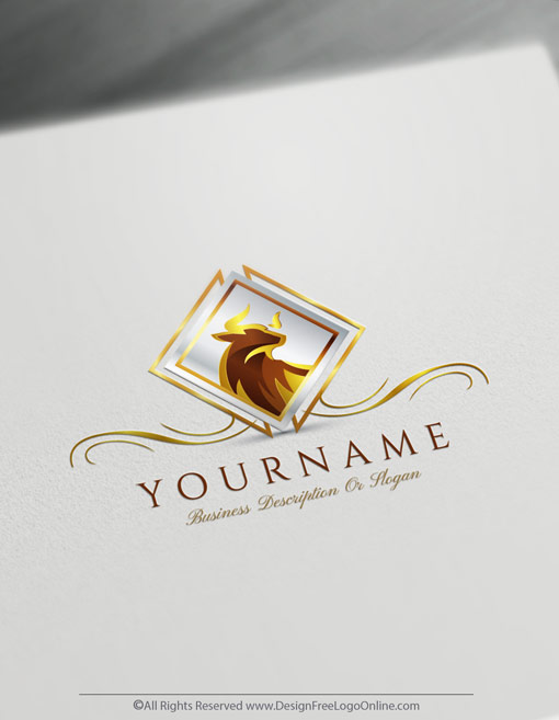 Use the free online logo maker and download your Elegant Bull logo ideas right away