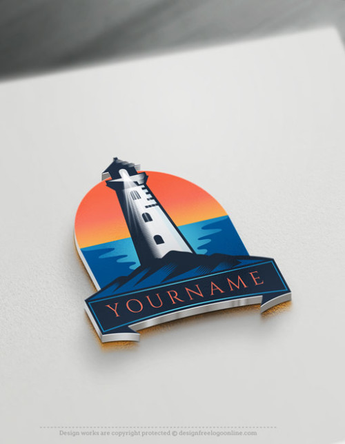 Build A Business Brand Online With Our Free Vintage Lighthouse Logos