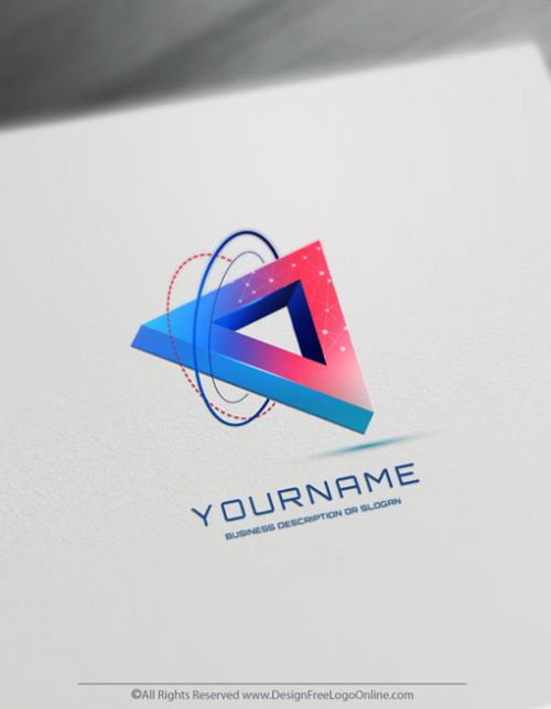 3D Colorful triangle logo maker