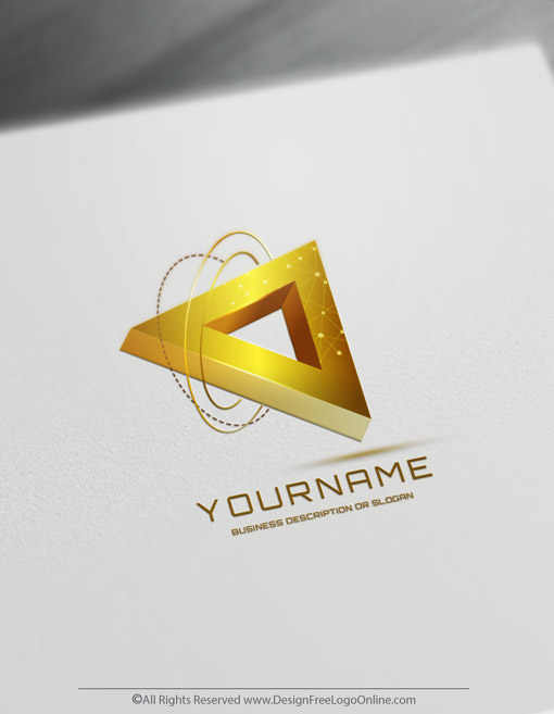 3D Triangle Logo Of Technology