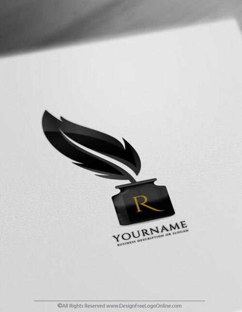 Quill Writer Logo Design Maker