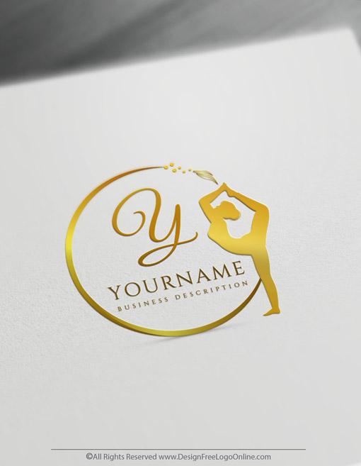 create golden yoga logos