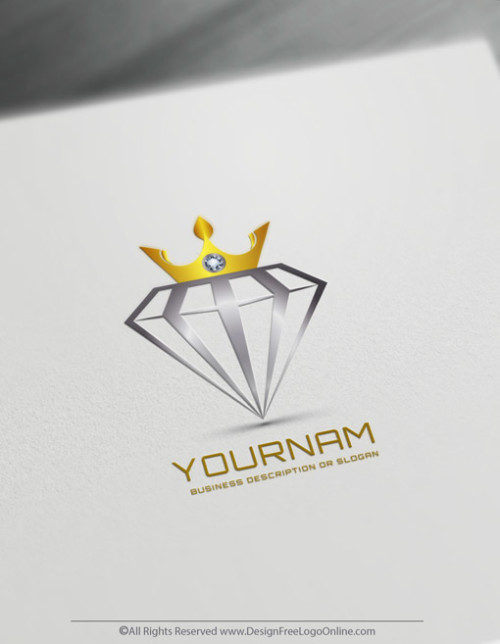 Golden Crown On Diamond jewelry logo