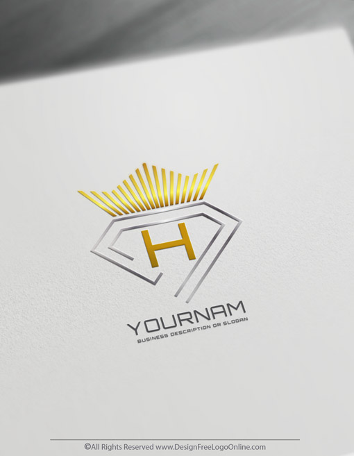 Golden crown diamond logo