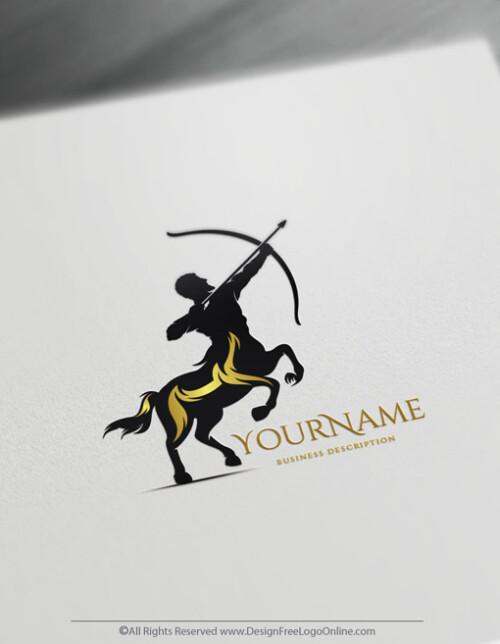 Build A Brand Online With Our Greek Centaur Logo Maker