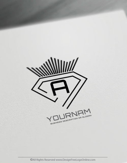 minimalist manly crown diamond logo
