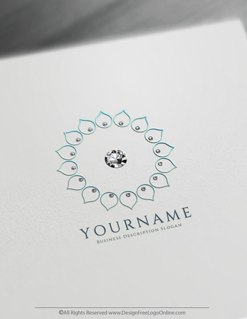 Pastels Logotype with floral diamond image