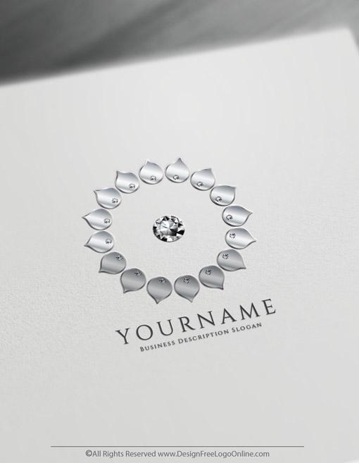 silver diamonds flower icon