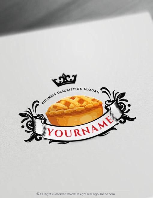 vintage retro pie symbol