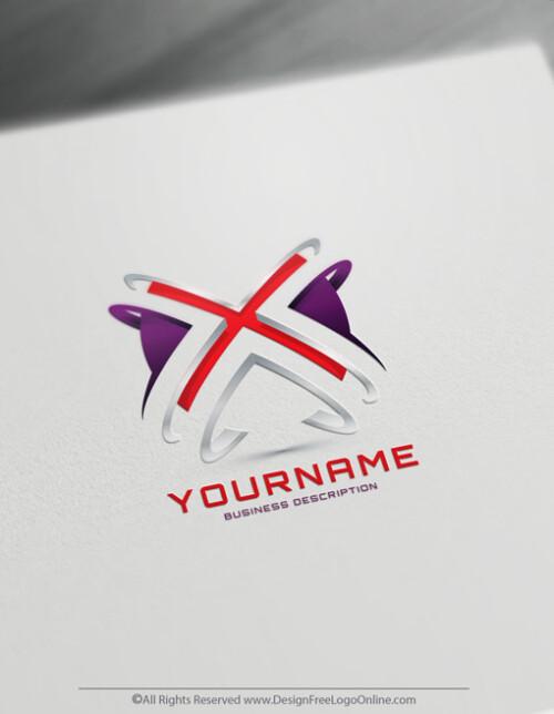 Cool 3D X logo maker