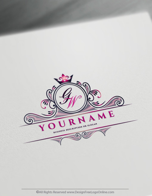 Download your Luxury Frame Logo With Crown Symbol now