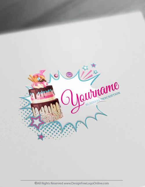 Sweet Candy Cake Logo Maker