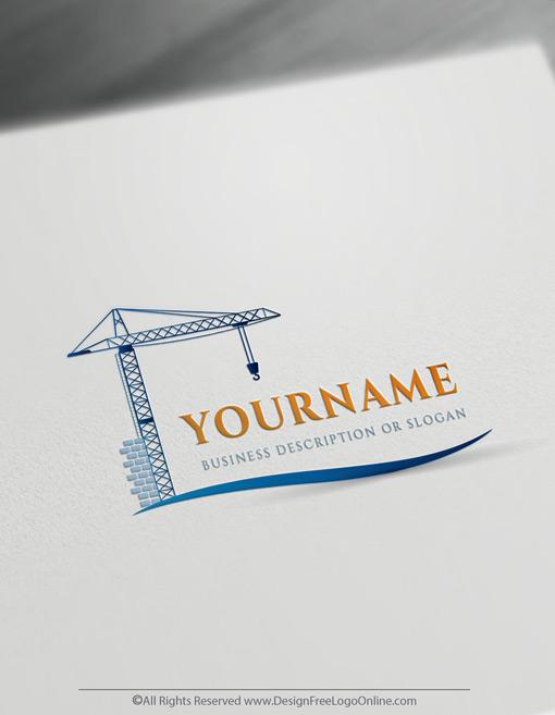 Online Blue crane logo design