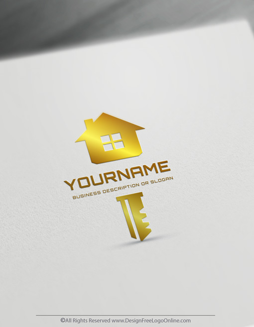 golden house logo maker