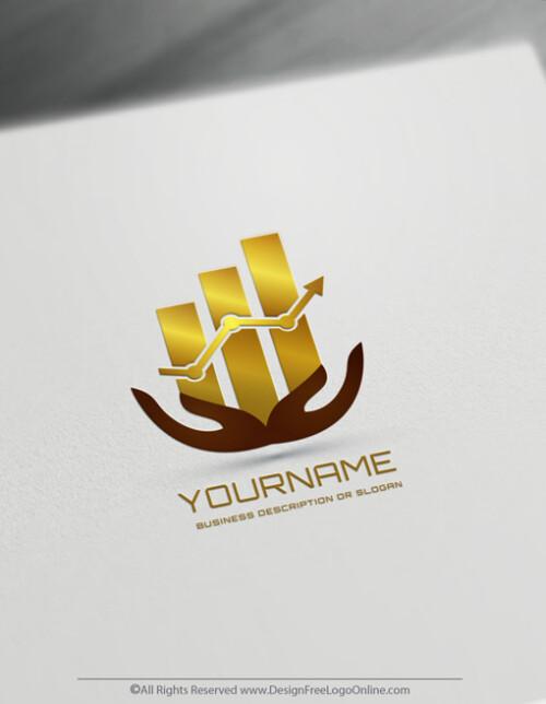 Financial Logo Design With Chart Symbol - Free Accounting Logo Maker