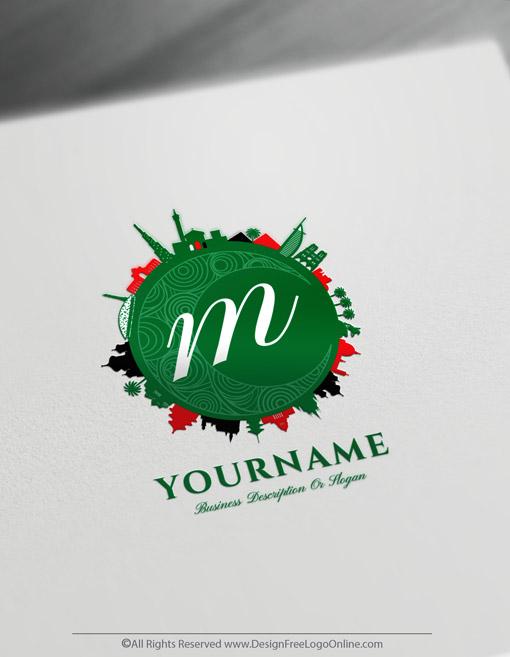United Arab Emirates Islamic Arabic logo logo maker online