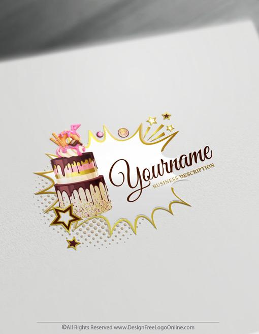 Golden bakery logos designer