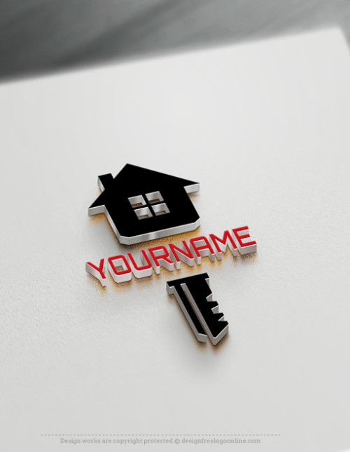 Modern Locksmith House Key Logo Design
