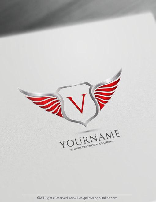 wings logo design maker