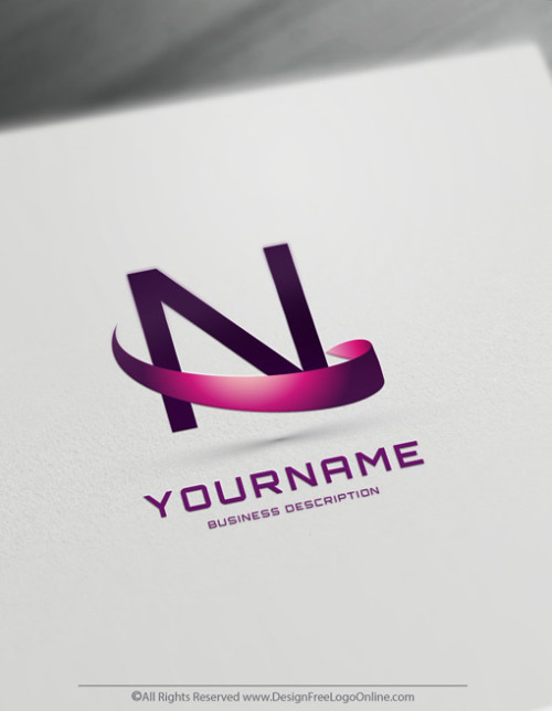Purple 3D Logotype creator
