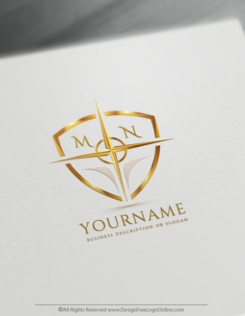Build A Business Brand With Our Shield Compass Logo Maker