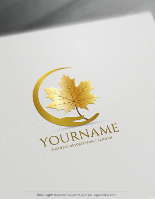 Build a Brand With Leaves of golden Maple tree