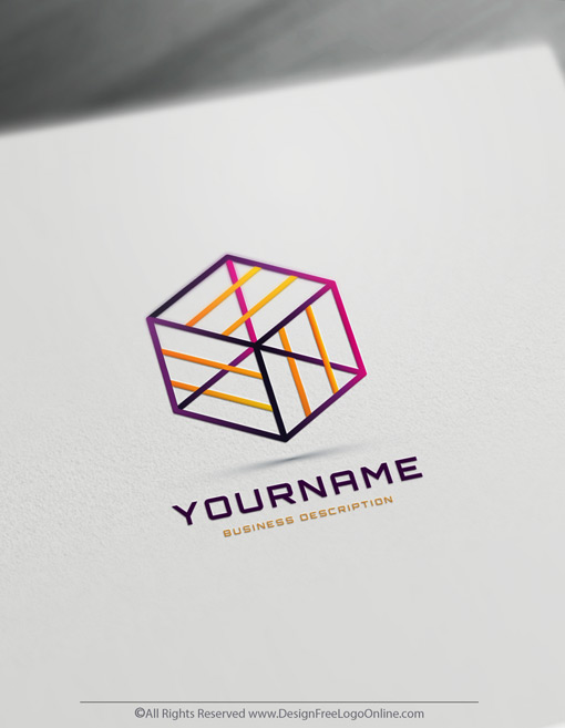 Build A 3D Brand With Our Minimalist Geometric Cube Logo Maker