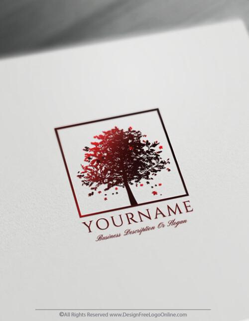 Free Sugar Red Maple Tree Logo Design Templates