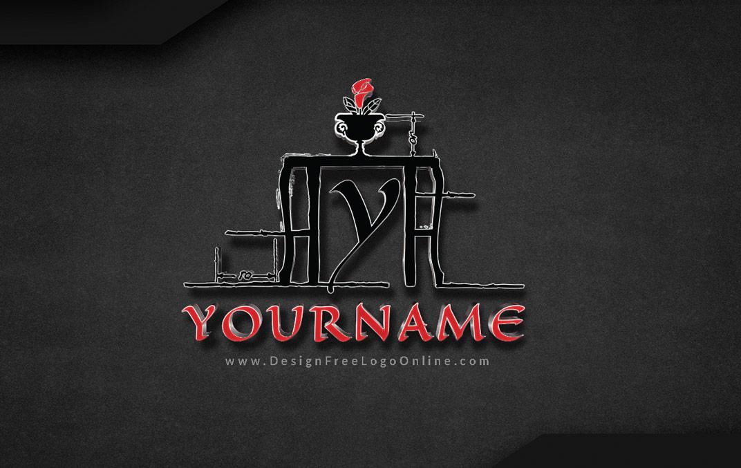 furniture shop logo or wooden craft carpenter logos
