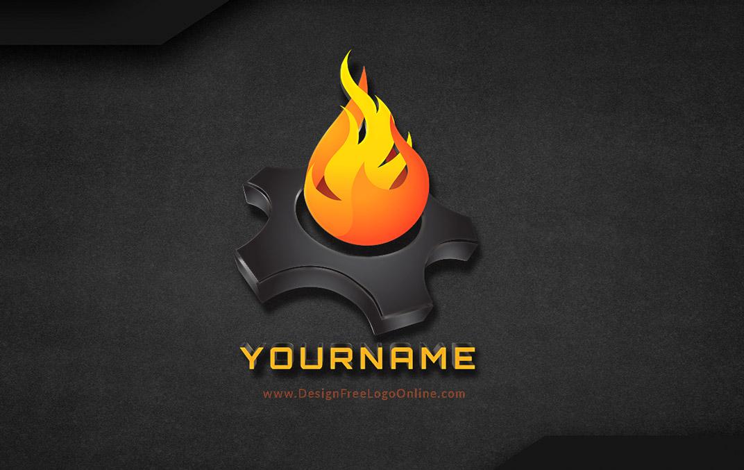 3D fire Logo