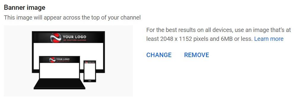 Banner image YouTube