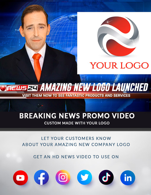 Breaking News Video With Your Company Logo - Intro Maker