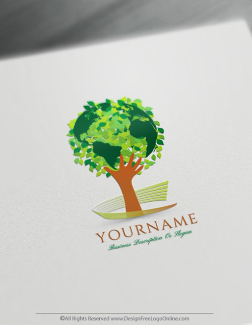 Build a Brand With Our Free Globe Tree Logo Design Templates