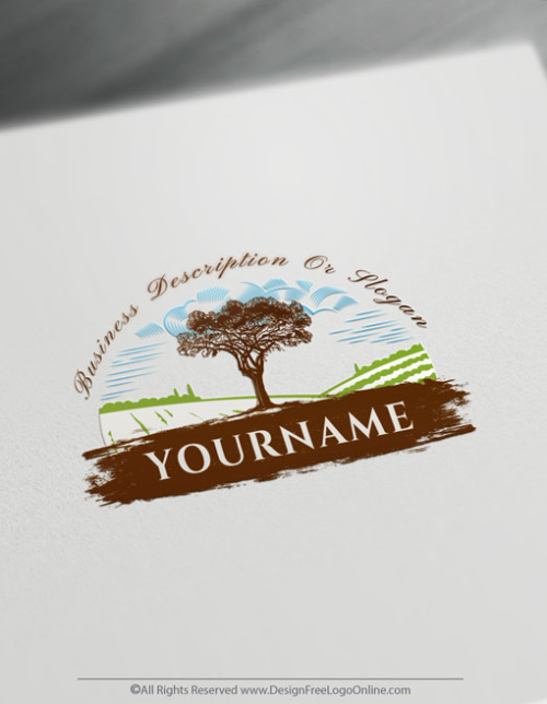Build a Brand With Our Free Landscape Farm Logo Maker